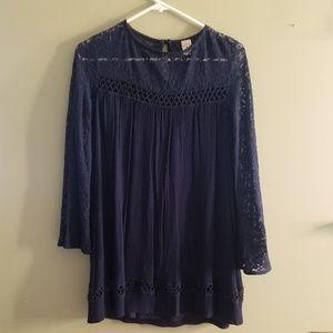 Long Sleeve Lace Babydoll Dress